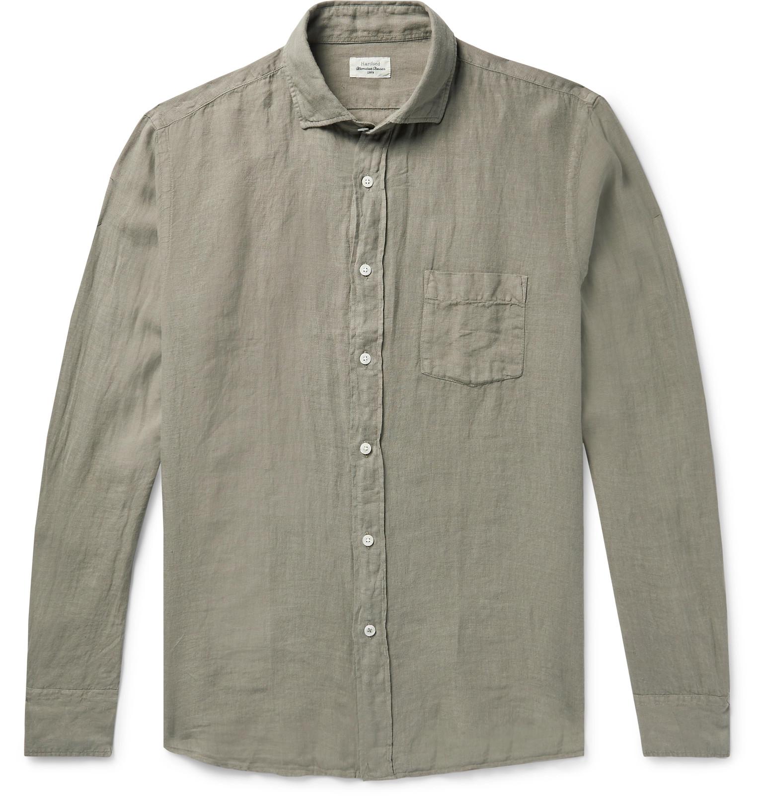 ae55abb39bcf Hartford - Paul Pat Slim-Fit Linen Shirt