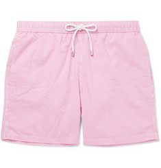 Hartford Mid-Length Striped Seersucker Swim Shorts