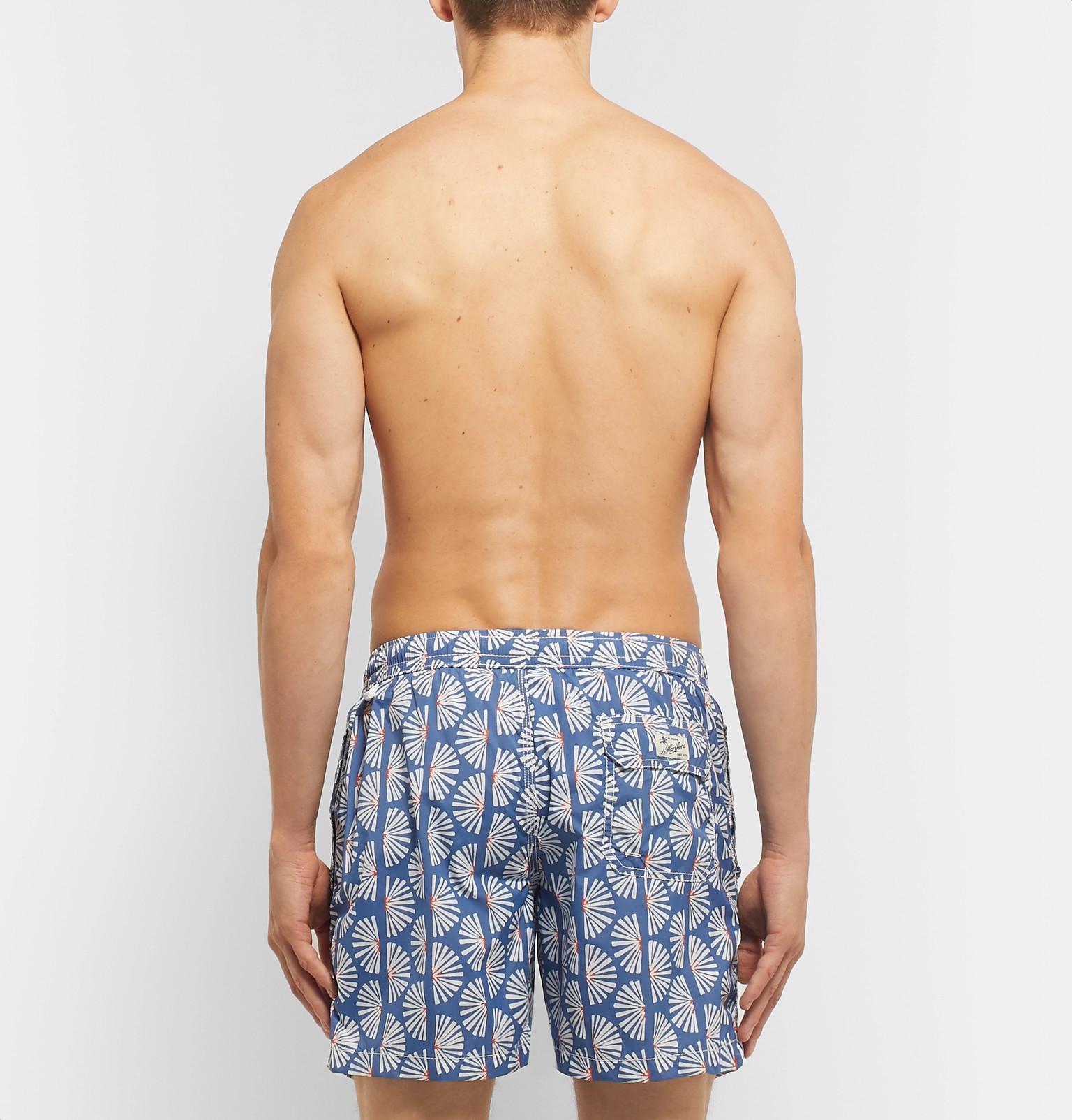 4e6224bdabc0 Hartford - Mid-Length Printed Swim Shorts