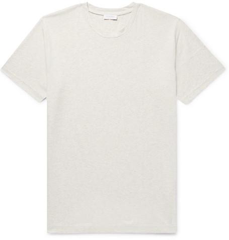 1e25e8d8 Sunspel - Riviera Mélange Cotton-Jersey T-Shirt