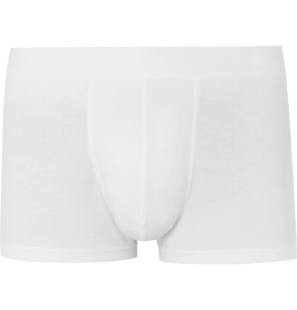 Sea Island Cotton Boxer Briefs - White