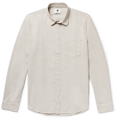 NN07 Leon Slim-Fit Cotton and Linen-Blend Shirt