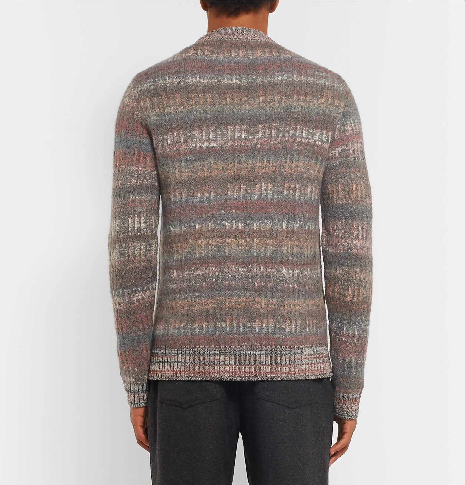 P Mr Dyed space Mélange Sweater Knitted 6nngqwd8z