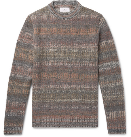 Space Dyed Mélange Knitted Sweater by Mr P.