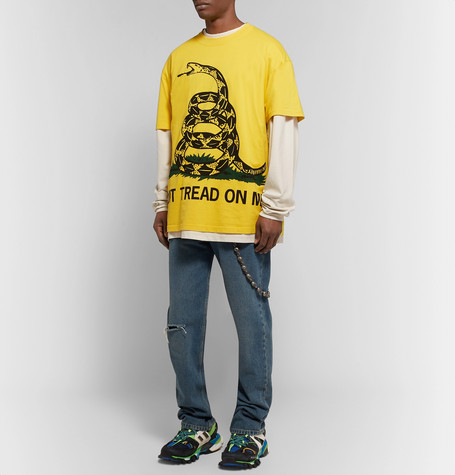 Oversized Printed Stretch Cotton Jersey T Shirt by Vetements