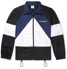 Vetements Printed Colour-Block Cotton Jacket