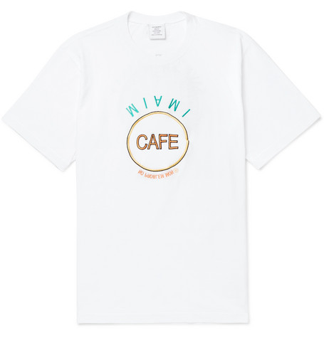 d68cff00 Vetements - Embellished Printed Cotton-Jersey T-Shirt