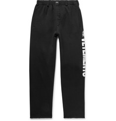 Vetements Logo-Print Fleece-Back Cotton-Jersey Sweatpants
