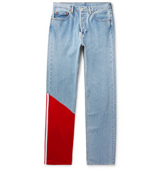 Vetements + Levi's Tech Jersey-Panelled Denim Jeans