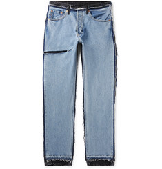 Vetements + Levi's Distressed Panelled Denim Jeans