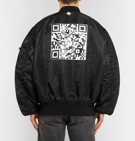 + Alpha Industries Oversized Reversible Printed Shell Bomber Jacket by Vetements