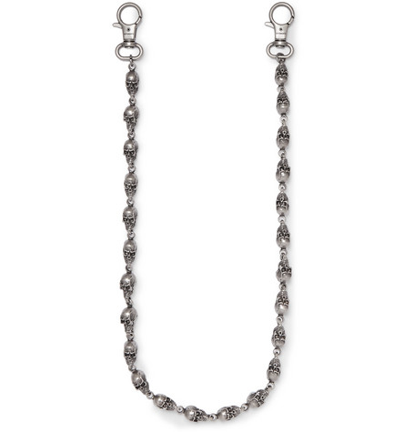 Skull Gunmetal Tone Wallet Chain by Vetements