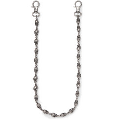 Vetements Skull Gunmetal-Tone Wallet Chain