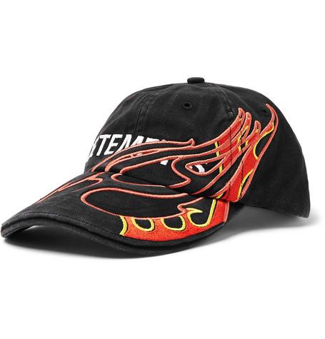 Vetements – + Reebok Embroidered Cotton-twill Baseball Cap – Black