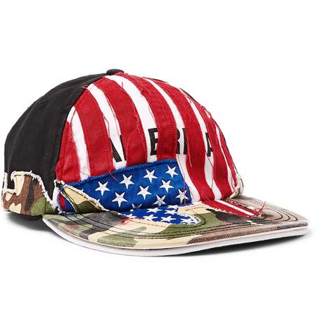 Vetements – + Reebok Distressed Panelled Cotton-twill Baseball Cap – Red