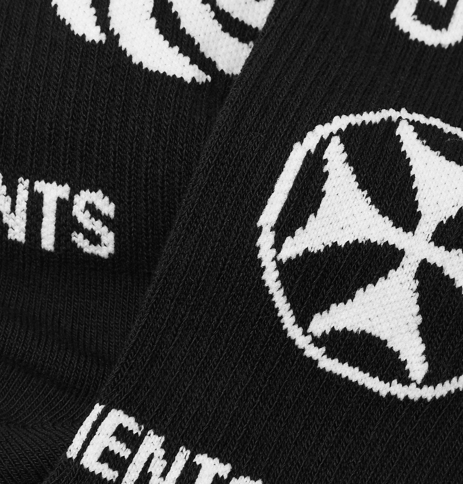1f76fb6fa29 Vetements - + Reebok Logo-Intarsia Stretch Cotton-Blend Socks