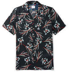 PS Paul Smith Camp-Collar Floral-Print Lyocell Shirt