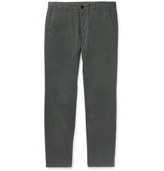 PS by Paul Smith Anthracite Slim-Fit Brushed Cotton-Blend Twill Chinos