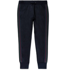 PS Paul Smith Slim-Fit Striped Cotton-Blend Jersey Sweatpants