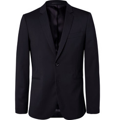 PS by Paul Smith Navy Slim-Fit Unstructured Stretch-Wool Blazer