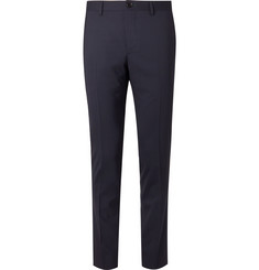 PS by Paul Smith Midnight-Blue Slim-Fit Wool-Blend Suit Trousers