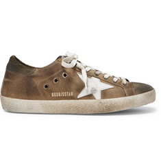 Golden Goose Deluxe Brand Superstar Distressed Suede and Leather Sneakers