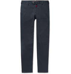 Isaia - Midnight-Blue Slim-Fit Stretch-Cotton Twill Chinos