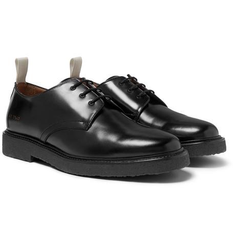 Cadet Leather Derby Shoes - Black