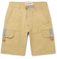 eye/LOEWE/nature Wide-Leg Cotton-Canvas Cargo Shorts