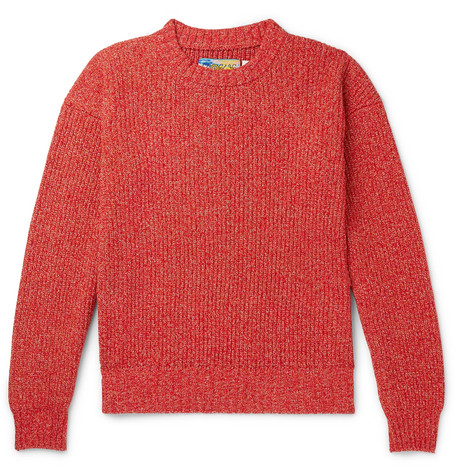 eye/LOEWE/nature – Mélange Cotton-blend Sweater – Red