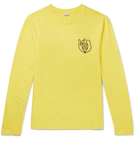 hot sale online de017 532f3 eye/LOEWE/nature - Printed Cotton-Jersey T-Shirt