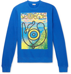 eye/LOEWE/nature Printed Fleece-Back Cotton-Jersey Sweatshirt
