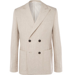 Oliver Spencer - Double-Breasted Linen Suit Jacket