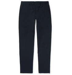 Oliver Spencer Navy Fishtail Cotton-Blend Trousers