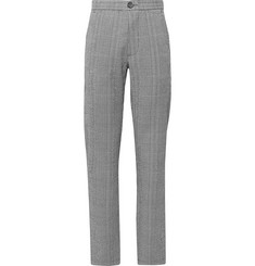 Oliver Spencer - Midnight-Blue Checked Cotton-Blend Seersucker Suit Trousers