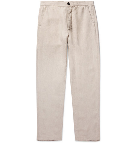 Oliver Spencer  STONE INEN SUIT TROUSERS - BEIGE