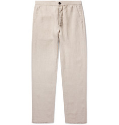 Oliver Spencer Stone Linen Suit Trousers