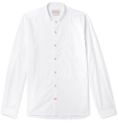 Oliver Spencer Grandad-Collar Bib-Front Organic Cotton Shirt