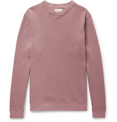 Oliver Spencer Robin Stretch Cotton-Blend Piqué Sweatshirt