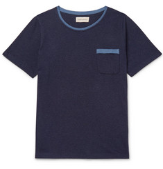 Oliver Spencer Envelope Contrast-Tipped Cotton-Jersey T-Shirt