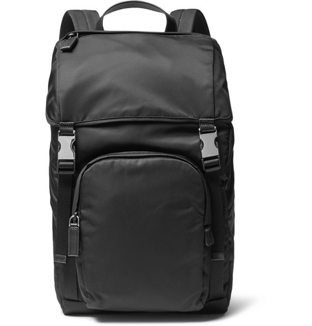 14e0dae6e9 Prada - Leather-Trimmed Nylon Backpack