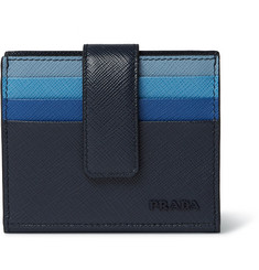 Prada Colour-Block Saffiano Leather Bifold Cardholder