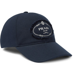 Prada - Logo-Print Cotton-Canvas Baseball Cap