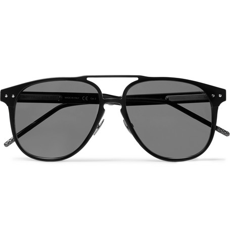 Bottega Veneta – Aviator-style Aluminium Sunglasses – Black
