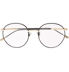 Bottega Veneta Round-Frame Titanium Optical Glasses
