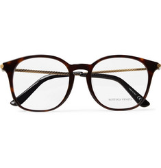 Bottega Veneta D-Frame Tortoiseshell Acetate and Gold-Tone Optical Glasses