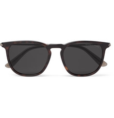 Bottega Veneta Square-Frame Tortoiseshell Acetate and Gunmetal-Tone Sunglasses