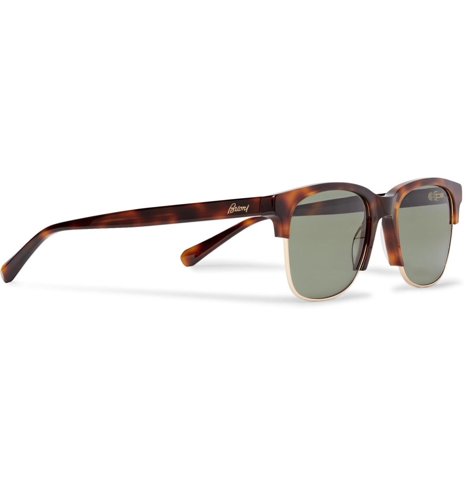 Square Tortoiseshell Acetate Sunglasses Tone And Gold Brioni Frame dzAqn4ZdE
