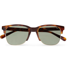 Brioni Square-Frame Tortoiseshell Acetate and Gold-Tone Sunglasses