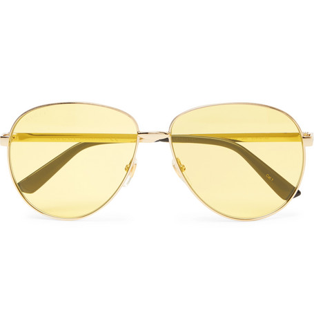 Gucci – Aviator-style Gold-tone Sunglasses – Gold